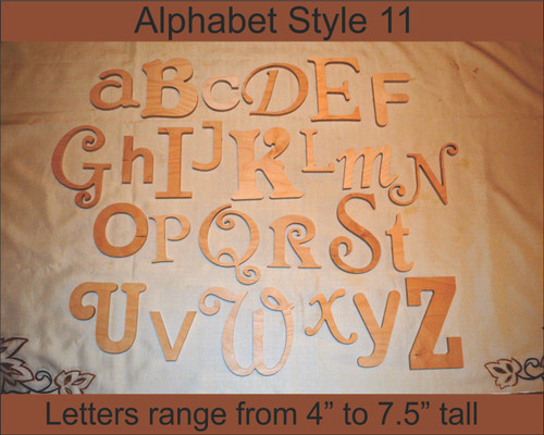 Wooden Alphabet Letters- Style 011