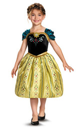 Anna Coronation Gown Kids Licensed Frozen Disney Princess Costume