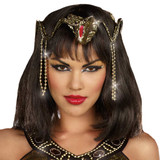 Egyptian Gold Snake crown with beads