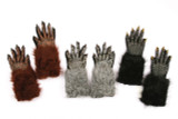 "Werewolf Gloves 15"" from Finger Tip to End of Fur"