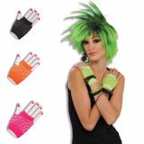 Fingerless Fishnet Wrist Gloves Assorted Colors