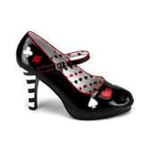"4"" Heel Alice & Wonderland Queen of Hearts Pump"