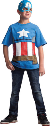 Avengers Licensed Captain America T-Shirt with Mask