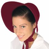 /felt-bonnet-burgundy-colonial-times/