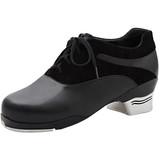 Capezio Tapsonic 2-Tone Black Lace Up Tap Dance Shoe (K542)