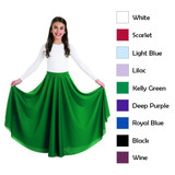 "Child's 35"" Long Circle Skirt w/ Elastic Waistband"