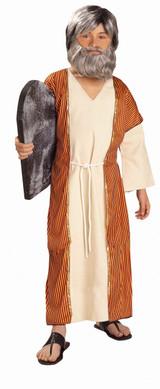 Biblical Man Moses Kids Under Robe, Robe, Belt