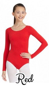 Whether you're in the studio or out and about, the Long Sleeve Leotard sets the standard. Wear traditionally with our Ultra Soft Transition Tights or pair this leo with your favorite jeans and pumps for a night out. Double stitched seams guarantee long lasting wear. Available in multiple colors to suit your every mood.  Product Features: Long sleeve leotard 90% Nylon, 10% Spandex Full front lining on ballet pink, light blue, light suntan, nude and white only Moderate scooped front and back Ballet leg line Double stitched seams Recommended care: Machine wash cold, delicate cycle and hang dry