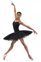 Belle classic pancake rehearsal tutu features six layers of stiff nylon tulle. Dress like the professionals for stage or practice in this traditional ballet look.  Features  Six layers of stiff nylon tulle stands out 16 inches from the body Attached ballet cut trunk Wide pull on waistband Fabric  Main: 100% Polyester Firm Tulle Attached Trunk: 83% Nylon, 17% Spandex
