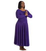 Body Wrappers Plus Size Long Sleeve Dance Dress
