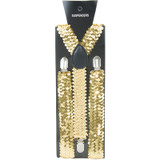 Adult Sequin Suspenders Assorted Colors