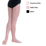Body Wrappers Adult TotalSTRETCH Mesh Back Seam Convertible Tights