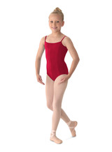 Girl's classic camisole leotard features three princess seams. Together with legendary Mirella fit and quality have made this camisole leotard popular with dancers throughout the world. High quality Microlux in wide variety of Mirella Classic colors.  Features  V front & moderate scoop back Three princess seams in the front and one center back seam Full front lining Ballet leg line Fabric  90% Nylon, 10% Spandex Notes  Machine wash cold, lay flat to dry