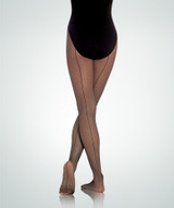 Body Wrappers Ladies Backseam TotalSTRETCH Fishnet Tights A62