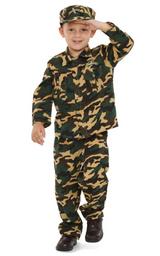 Army Green Camo Costume Kids