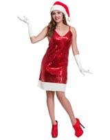 Sequin Santa Hottie Dress & Hat