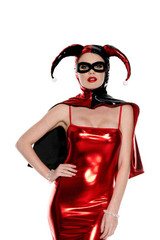 /jester-cape-wet-look-harley-zip-up-cape-w-mask/