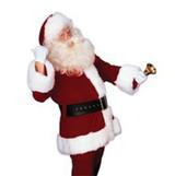 Santa Suit Crimson Burgundy Super Deluxe Costume Complete Set