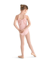 Bloch Girl's flock mesh bow back camisole leotard