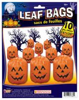 """Pumpkin Leaf Bags (10) Pack  24"""" x 30"""" with ties"""