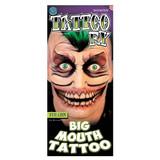 Evil Grin Big Mouth Tattoo