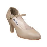 """Capezio Theatrical Footlight Tan Character Shoe 3"""" Heel"""