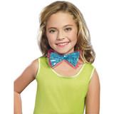 Sequin Girl's Bowtie - Turquoise