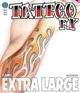 Flames - Extra Large Arm Temporary Tattoo
