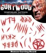 Temporary Tattoos Trauma Series Carving Board