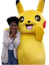 Pika Yellow Electric Pocket Monster Mascot Costume