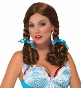 Farm Girl Wig with Pigtails and bows Dorothy