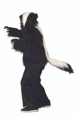 Skunk Mascot Costume Adults Headpiece and Jumpsuit