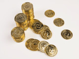 72 pc Ancient Gold Coins or Pirate Treasure