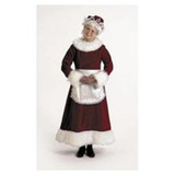 Mrs Claus Deluxe Costume Adult Dress Size Medium 8-10