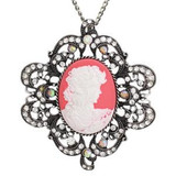 Classic Cameo Necklace - Rose
