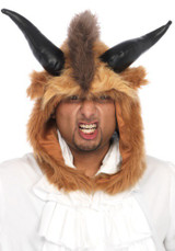 Unleash the beast in the Brutal Beast Hood by Leg Avenue. This faux fur hood will take your costume from prince to powerful beast. Pairs perfectly with other enchanted costumes by Leg Avenue. Unisex.  • Suitable for teen and adults OS • Package includes: Furry Beast Hood • Complete your beastly look with our Mens Velvet Coat and Ruffle Front Shirt. • Hand wash cold, Do not bleach, Drip dry, Do not iron