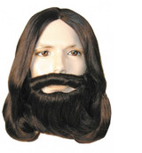 Biblical Wig & Beard Set - Auburn