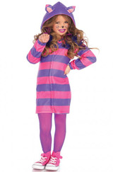 Cheshire Cat Cozy Girl's Hooded Dress