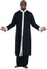 Mens Stained Glass Trim Robe