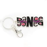 Double dance keychain purple, pink and black