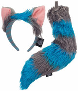 Cheshire Cat Ears and Tail Set Deluxe
