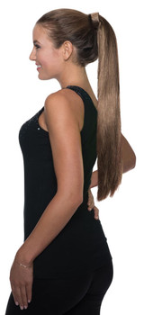 Ponytail Clip On Hair - Brown