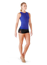 Bloch Fitted Mesh Back Zip Front Top