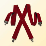 Deluxe Red santa suspenders