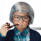 Old Man Combover Kit Child O/S