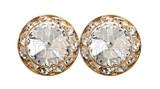 Performance earring 20mm pierced crystal gold