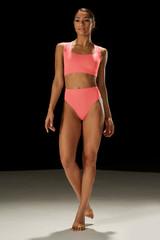 Mirella Romantic Lace Scoop Neck Crop Top Ladies Dance Top