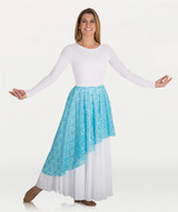 Body Wrappers Asymmetrical Lace Praise Dance Skirt