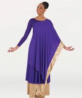 Body Wrappers Convertible Asymmetrical Caftan Pullover Praiswear
