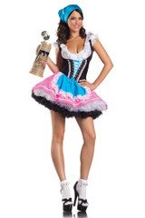 Be Wicked Sexy Beer GIrl 4 PC Ladies Costume